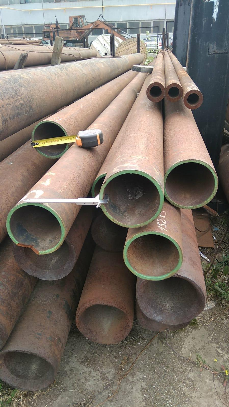 Трубы черные стальные 152х9 горячедеформированные ГОСТ 8731-74 можно купить со склада от 1 метра.